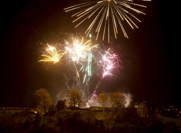 Last year's firework display at Kendal Castle (Picture by Allan Bovill)