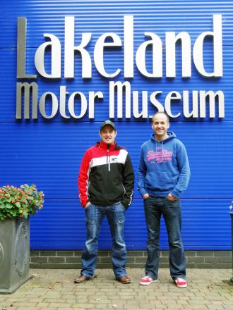 John McGuinness and Tim Reeves at the Lakeland Motor Museum