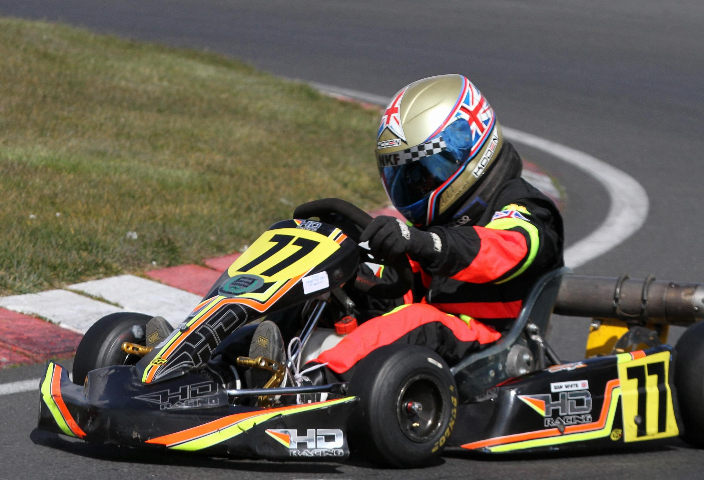 Windermere's rising karting star Sam White stays in the tracks of legends