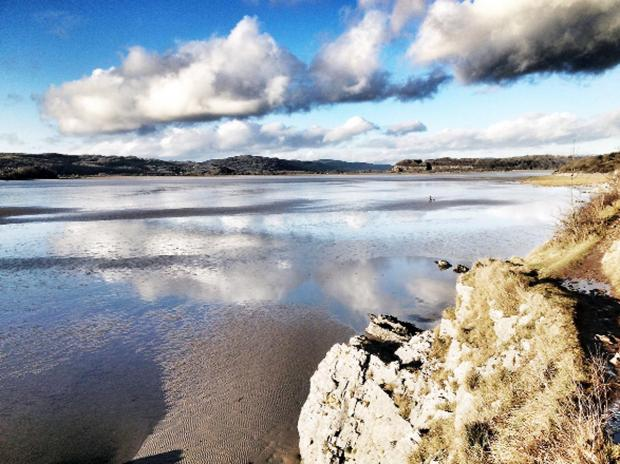 Morecambe Bay basks in welcome winter sunshine