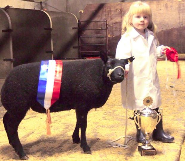 Ellie Jackson with her award-winning Beltex