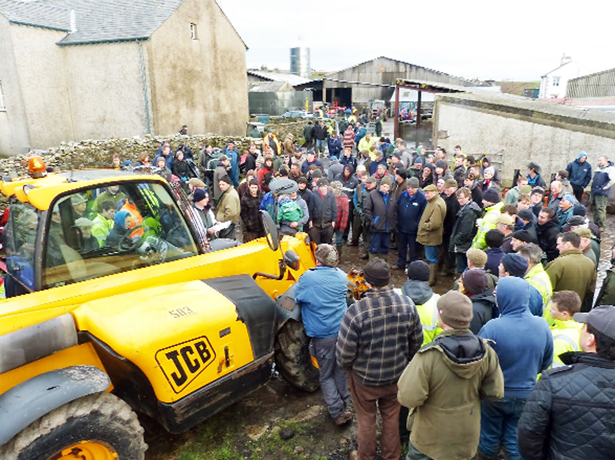A section of the crowd of would-be buyers at the farm dispersal sale