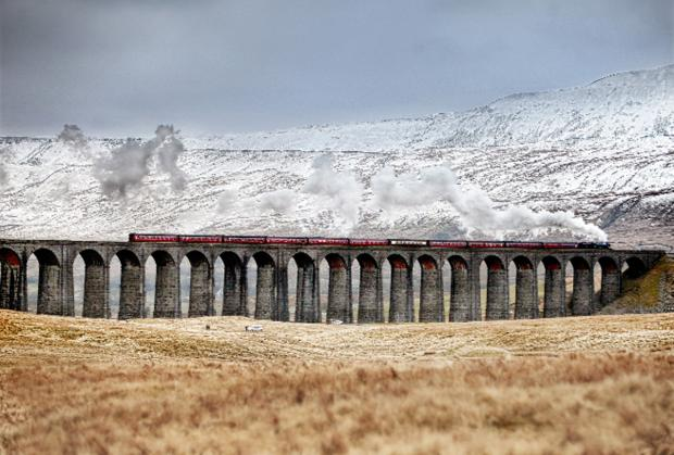 Ribblehead Viaduct on the Settle-Carlisle line