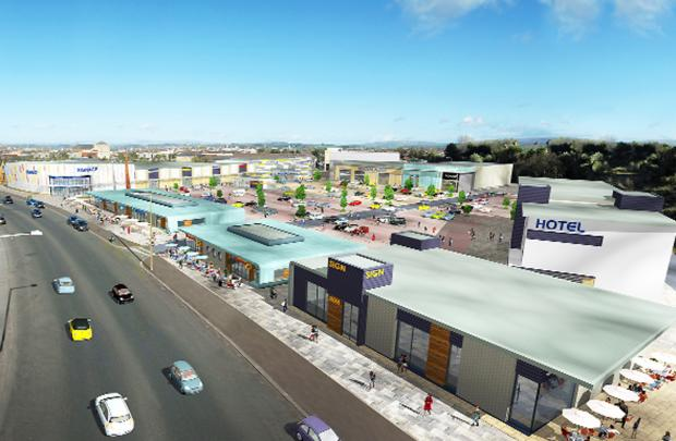 n artist's impression of the proposed retail and leisure park on Morecambe's front