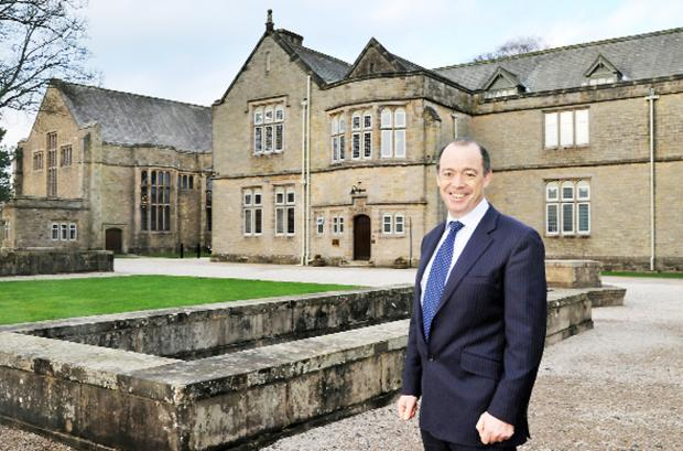 Sedbergh School headmaster Andrew Fleck pictured outside the school's main buildings