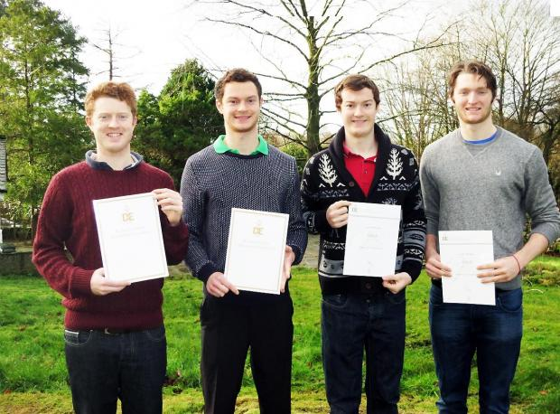 From left to right; Callum, Stuart, Gareth and Fraser Morgan.