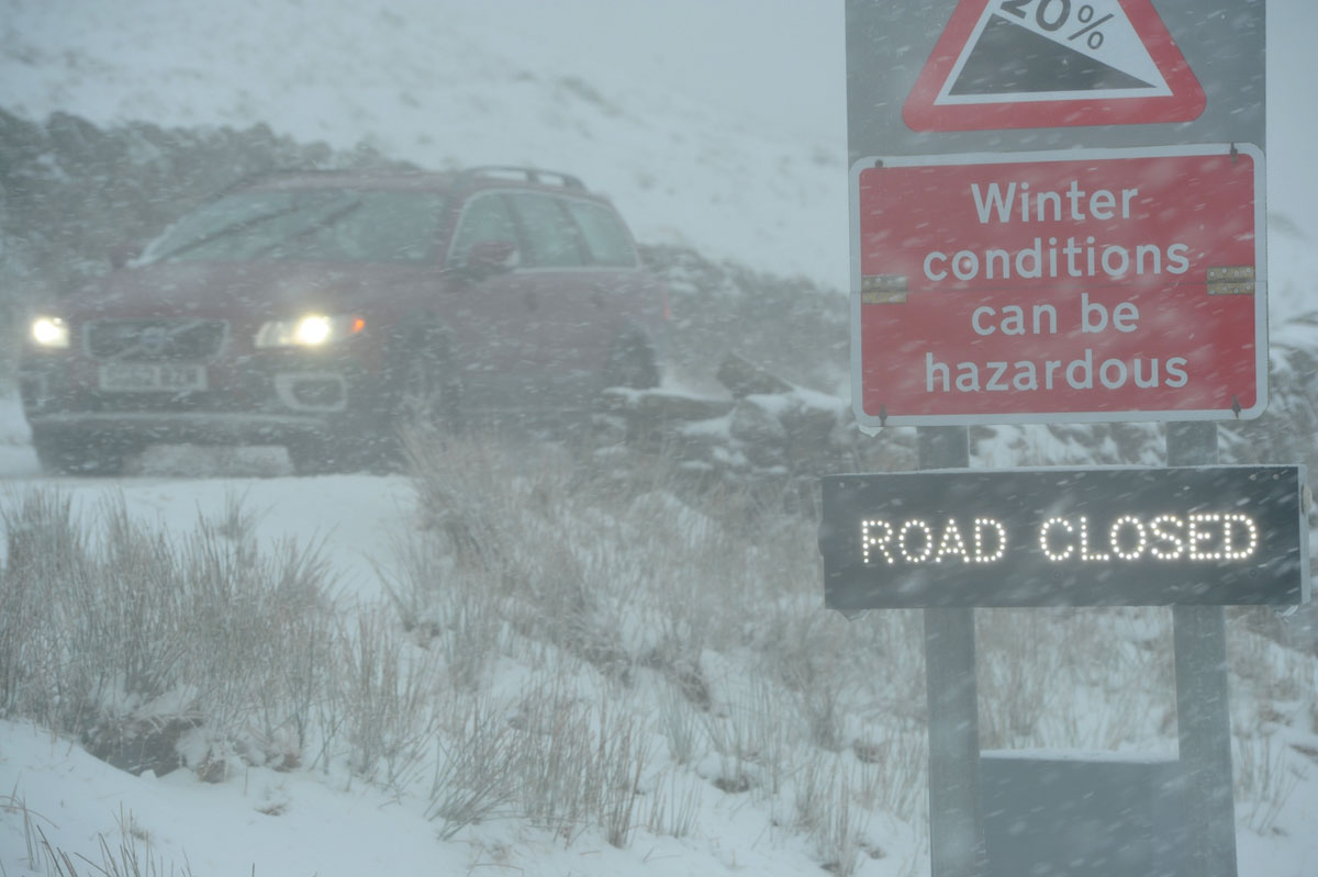 WHITE OUT: Kirkstone Pass in the grip of a blizzard