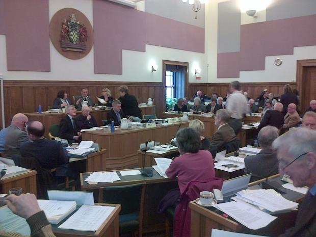 A meeting of Cumbria County Council in Kendal