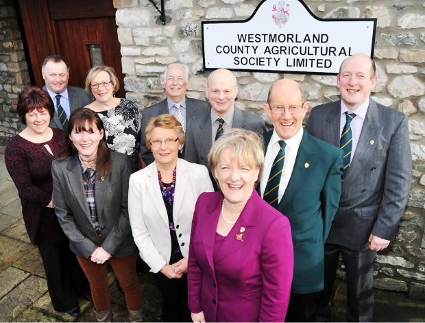 FIGUREHEAD: Robert 'Bob' Bond pictured back, third from left, at the Westmorland County Agricultural Society agm