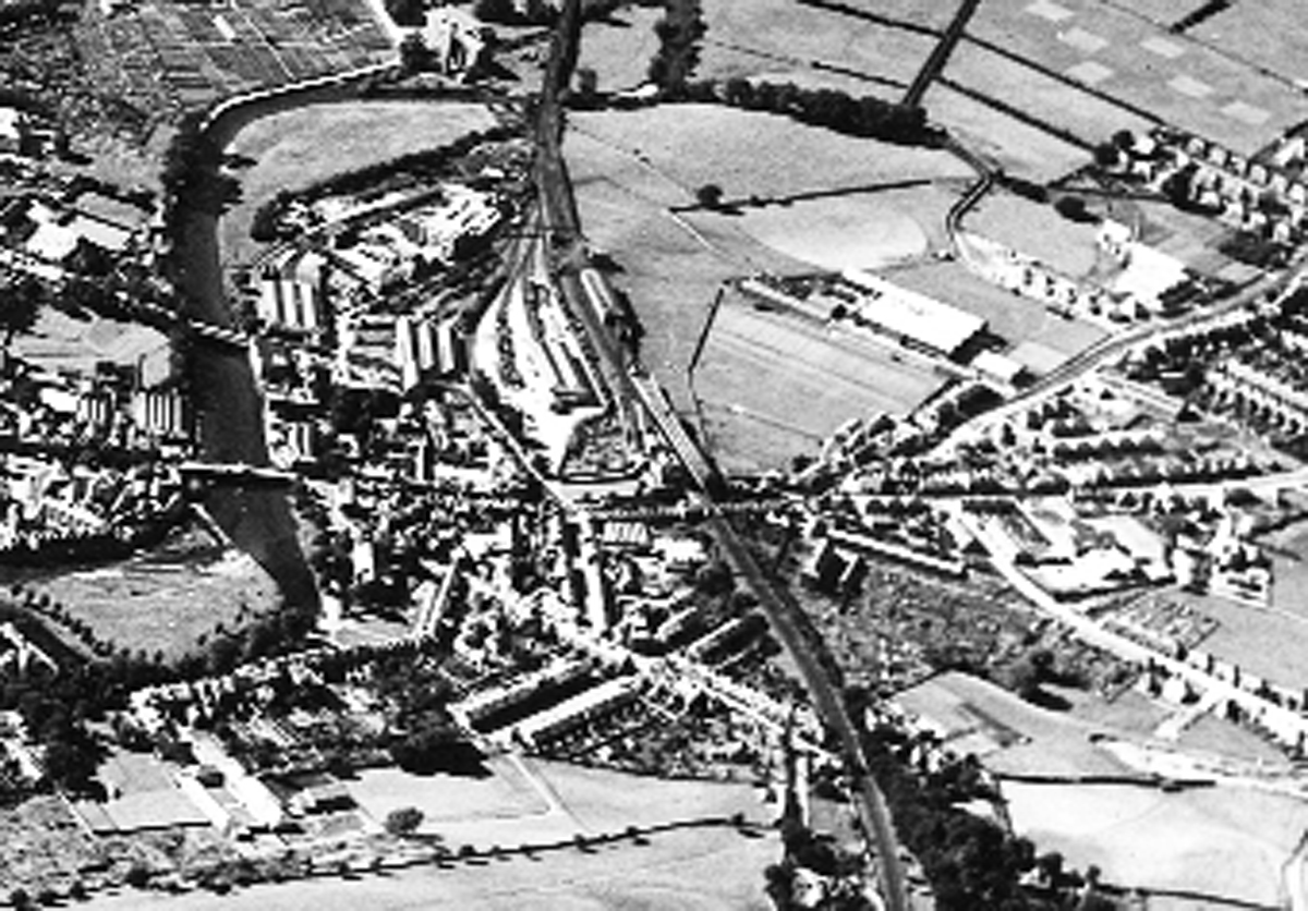 An aerial view of the part of Kendal known as 'Doodleshire'