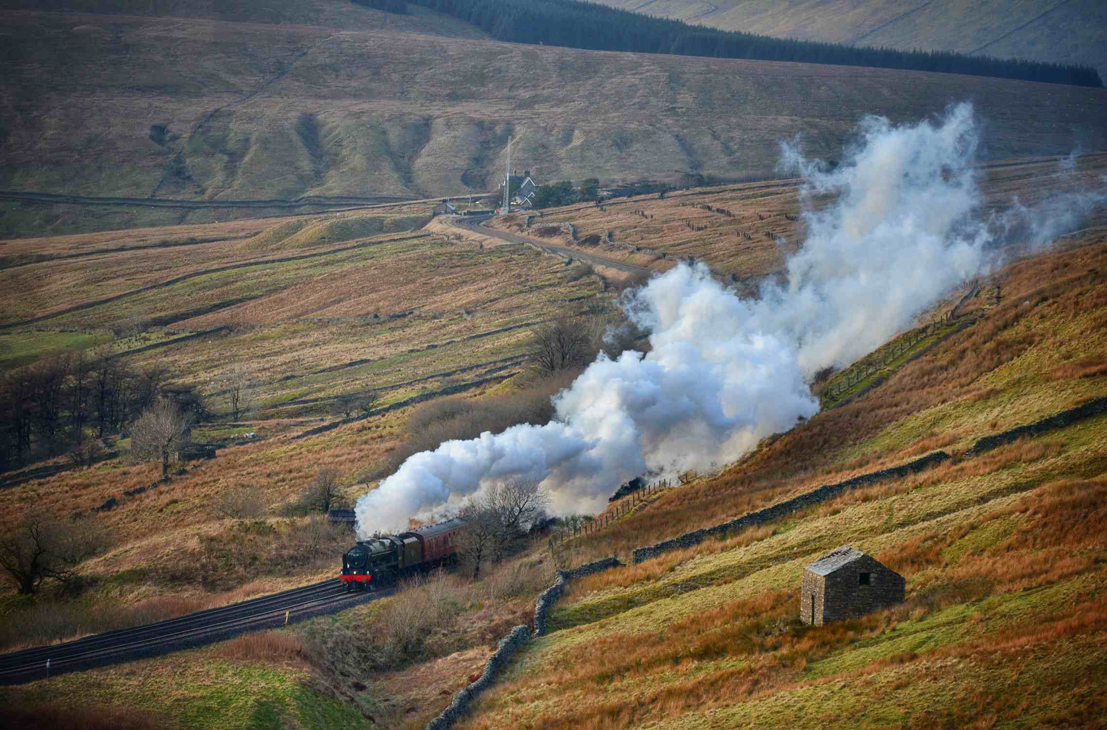 England's once threatened scenic railway enjoys more passengers and freight than ever