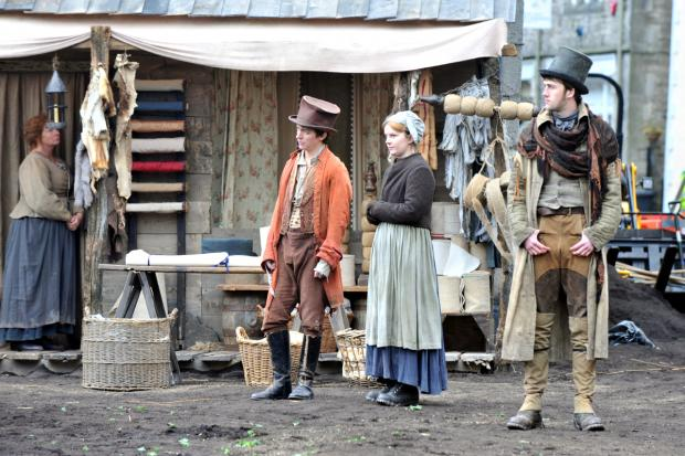 TIME SHIFT: Kirkby town centre transformed for BBC drama