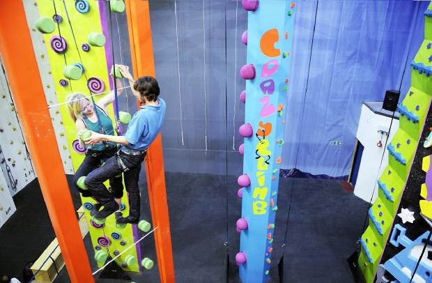 A glimpse of what the CrazyClimb will look like at the Lakeland Climbing Centre, Kendal