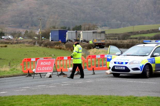 Emergency services at scene of 'serious' village accident - car and lorry involved