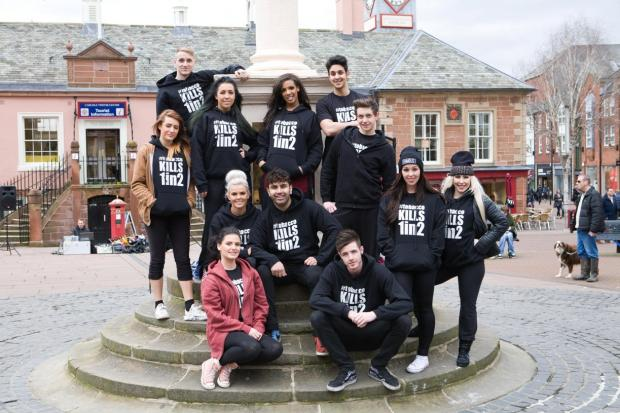 Dramatic anti-tobacco street performance takes place in Carlisle