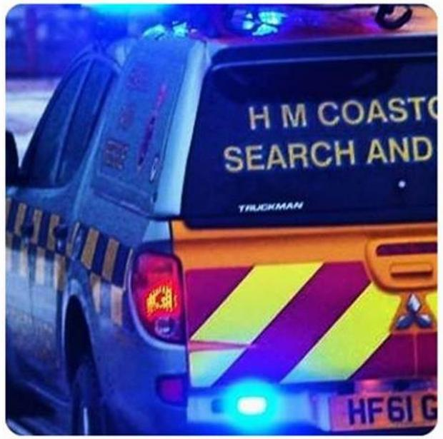 The coastguard has been dealing with the incident since around 9am