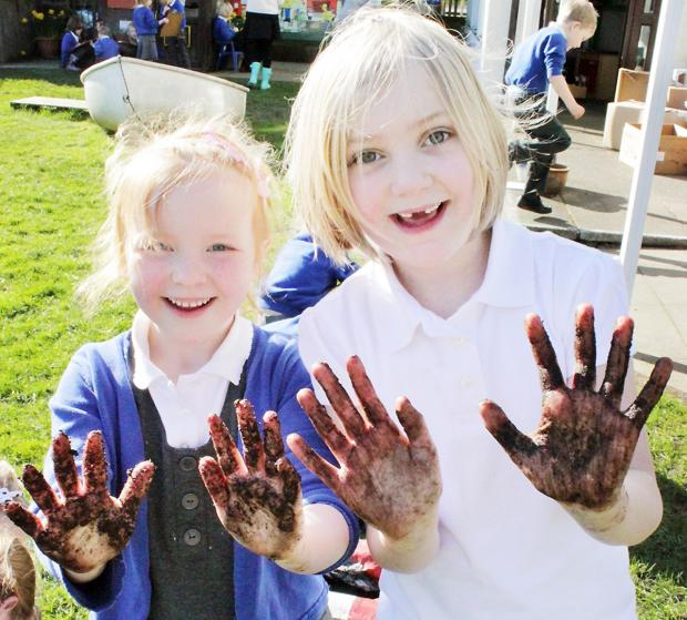 Hawkshead primary school pupils enjoy getting their hands dirty