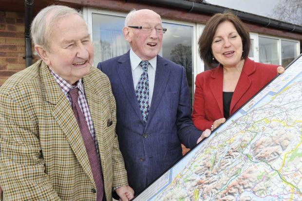 CHANGE: From left, Michael Hope, the outgoing trust administrator, Alan Forsyth founding trustee and Caroline Addison