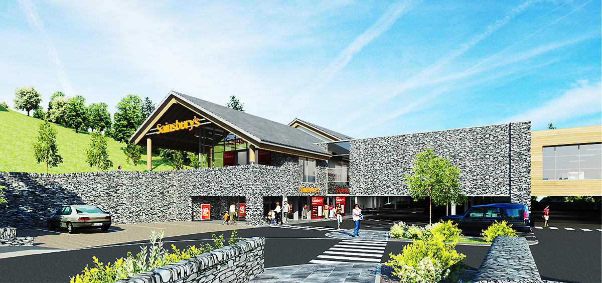 An artist's impression of the store Sainsbury's wants to build at Ambleside