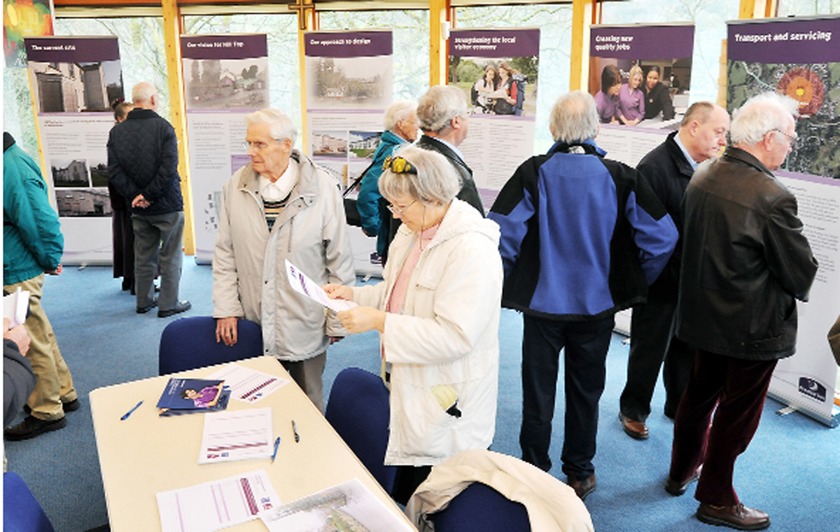 Residents scrutinise the plans
