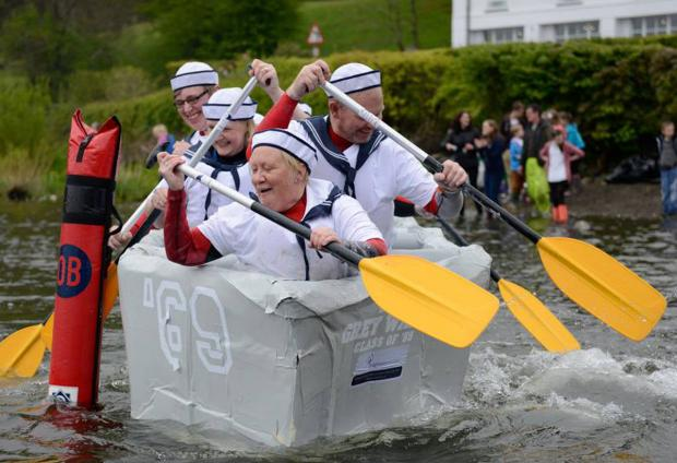 Teams urged to sign up for cardboard boat race on Windermere