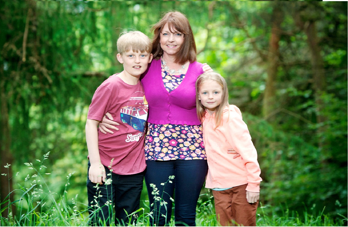 Alison Wills with her children in a photograph released by the family