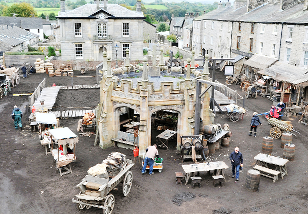 Kirkby Lonsdale was turned into a 19th-century Cornish village by the TV production crew