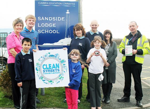 A campaign by Sandside Lodge School has resulted in the problem of dog fouling becoming a rarity