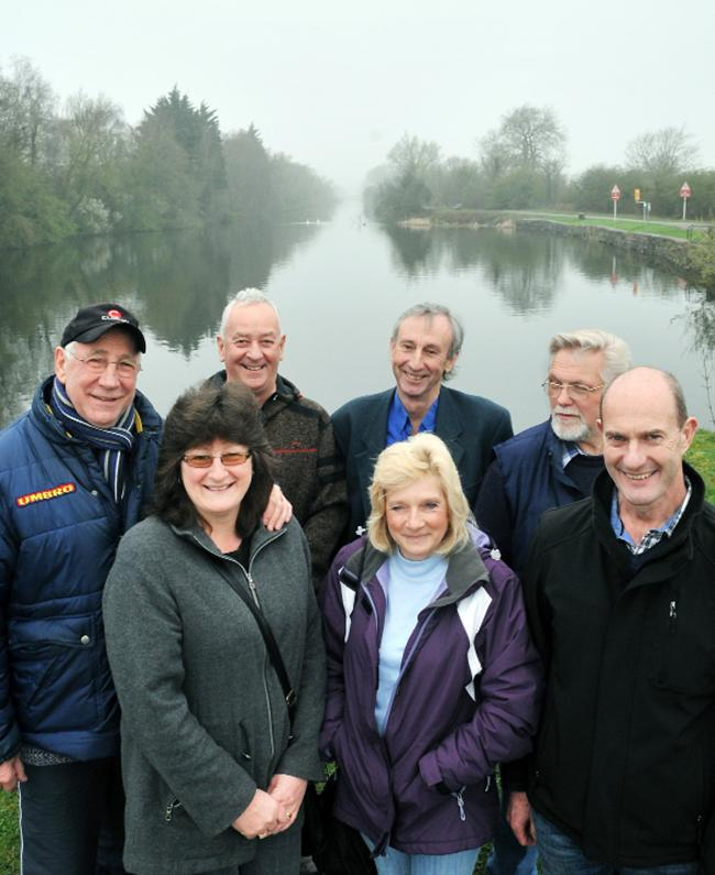 Members of The Friends of Ulverston Canal Martin Smith, Sue Smith, Roger Arnold, Alan Beach, Phyllis Smith, Bob Neave and Colin Smith