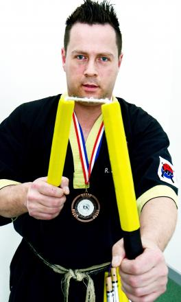Sensei Richard Smith wins bronze at European Open Nunchaku Championships - the first competitor from the UK to medal on Dutch soil