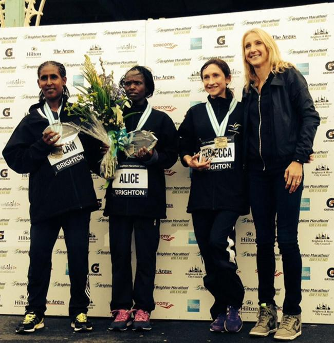 Kendal AC's Rebecca Robinson exceeds her own expectations with podium finish at the Brighton Marathon