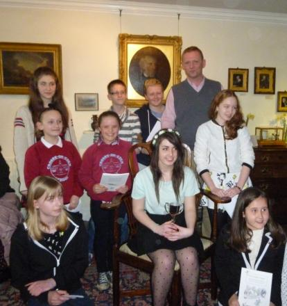 Heidi Ostell and other winners with Christopher Wordsworth