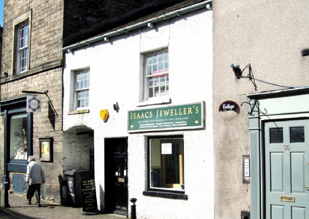The jewellers shop building in Main Street, Kirkby Lonsdale