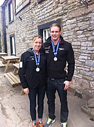 London 2012 Olympians Glen Robinson and Chloe Wilcox win gold at Commonwealth Championships after long water polo association