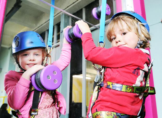 Youngsters harness their skills at Kendal's Lakeland Climbing Centre