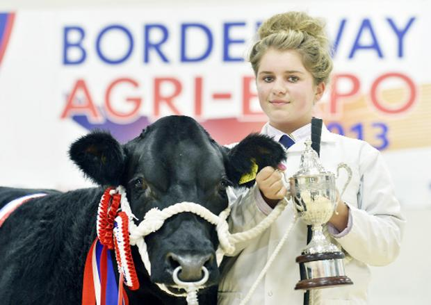 Charlotte Alford with last year's Borderway Expo supreme champion, Daddy Big Bucks