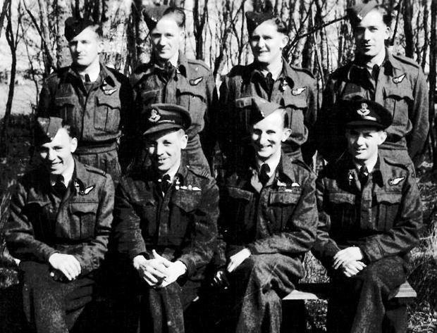 Believed to be taken at RAF Brawdy, William Graham is top left on the back row. Picture courtesy of Ken Organ.