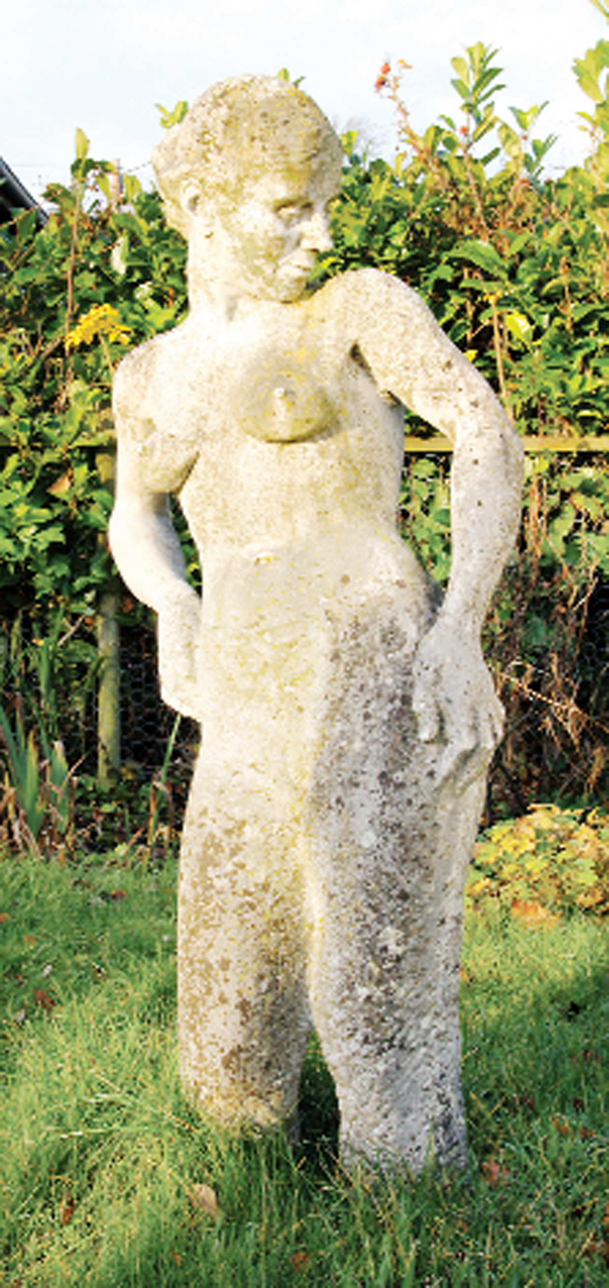 The statue depicting Jill - one of the statues that caused such a stir