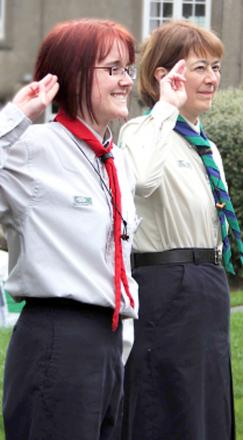 Scouts impress on St George's Day