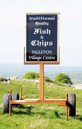 The sign at Ingleton