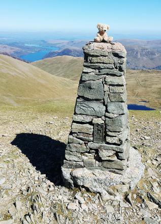 Livingstone Wainwright on the summit of Helvellyn