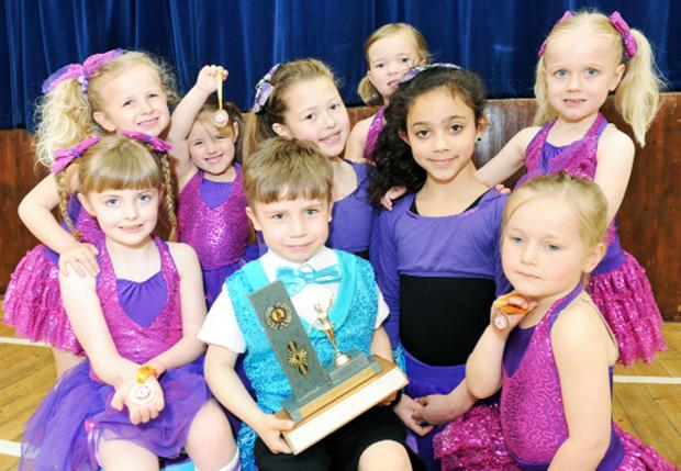 Some of the winners from the Dance Atikk groups at the Lancaster Stage Dance Festival