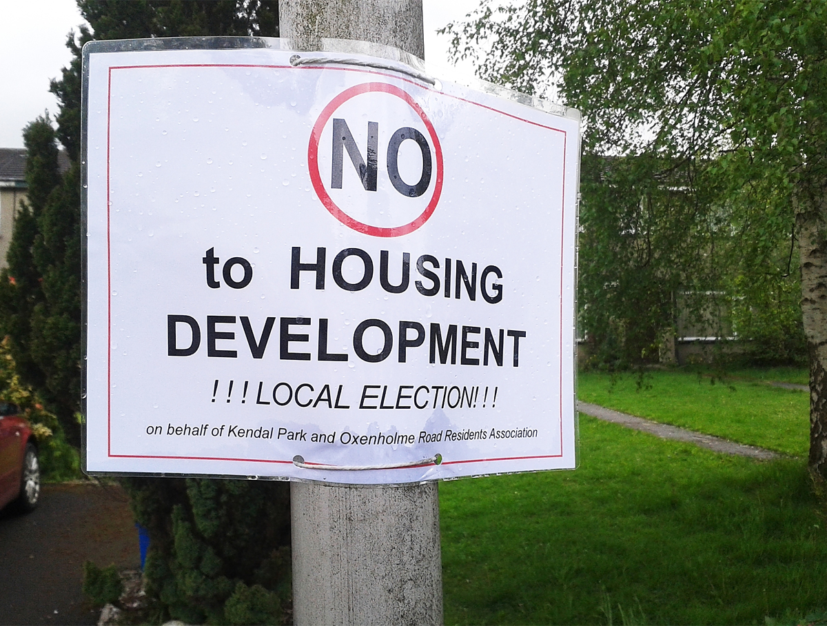 One of Kendal Park and Oxenholme Residents' Association's posters
