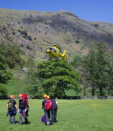 Operation in progress to rescue fallen climber in Lake District