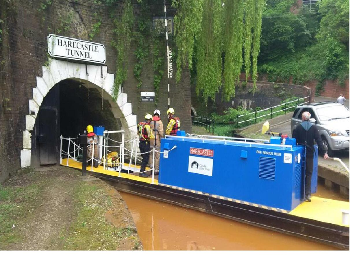 Rescuers entering Harecastle Tunnel on Tuesday. Pic by Bill Ward.