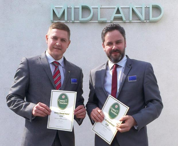 L-R: Mark Needham from Waterhead and Matt Stanaway from The Midland