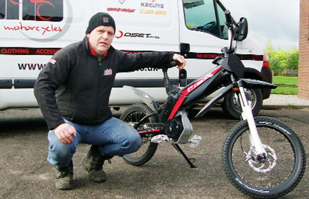 The Westmorland Gazette: Martin Bell with one of the new e-Tricks bikes
