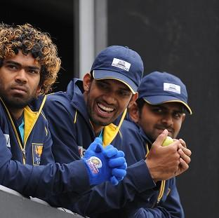 Sachithra Senanayake (centre) is confident of better to come from Sri Lanka