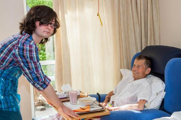 Teenage help: Calum Winder, 17 of Urswick gives up his time to help at the hospice.