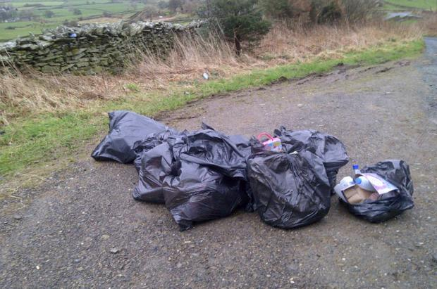 The Westmorland Gazette: The rubbish left on Kirkby Slate Road. Photo by South Lakeland District C